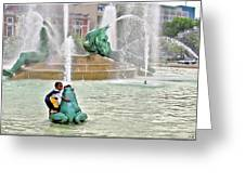 Hot Day In Philly Greeting Card