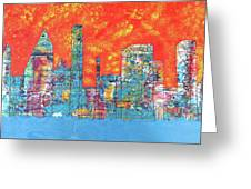 Hot Day In The City Greeting Card