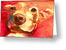 Hot Dog Chilly Dog Study Greeting Card