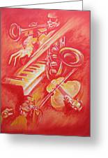 Hot Jazz Greeting Card