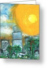 Hot Miami Sky Greeting Card