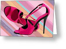 Hot Momma's Hot Pink Pumps Greeting Card