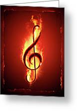 Hot Music Greeting Card