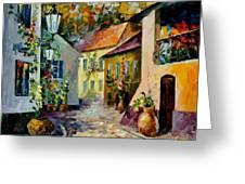 Hot Noon Original Oil Painting  Greeting Card