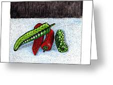 Hot Peppers Take1 Greeting Card