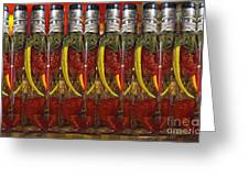 Hot Pickled Peppers Greeting Card