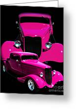 Hot Pink 33  Greeting Card