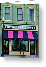 Hot Pink Cake Stand Greeting Card
