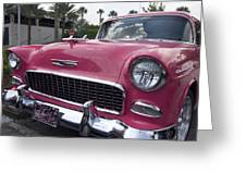 Hot Pink Chevy Greeting Card