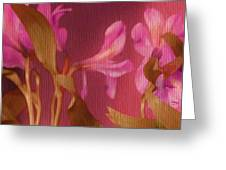 Hot Pink Lilies Greeting Card