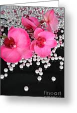 Hot Pink Orchids 2 Greeting Card