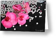 Hot Pink Orchids Greeting Card
