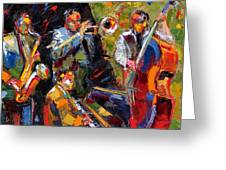 Hot Quartet Greeting Card