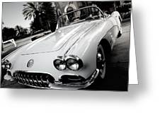 Hot Rod Black And White Greeting Card