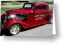 Hot Rod Chief Greeting Card