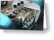 Hot Rod Engine Detail Greeting Card