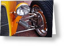 Hot Rod Headlight Greeting Card