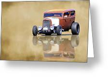 Hot Rod Reflection Greeting Card