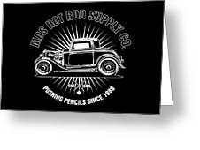 Hot Rod Shop Shirt Greeting Card