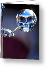 Hot Rod Skull Rear View Mirror Greeting Card