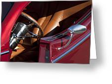 Hot Rod Steering Wheel Greeting Card