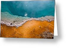 Hot Spring Detail Greeting Card