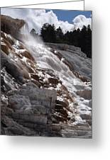 Hot Spring Fountain Greeting Card