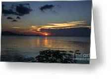 Hot Sunset Greeting Card