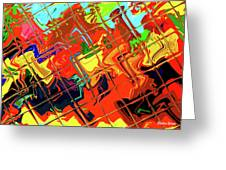 Hot Tile Reflection Greeting Card