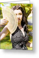 Hot Woman Greeting Card by Jorgo Photography - Wall Art Gallery