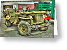 Hotchkiss Jeep Greeting Card