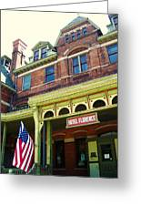 Hotel Florence Pullman National Monument Greeting Card