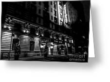 Hotel Metro, Nyc - Bw Greeting Card