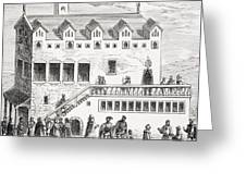 Hotel Of The Chamber Of Accounts In The Greeting Card