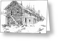 Hotel Red Lion Ghost Town Montana Greeting Card