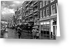 Hotel Row -- Amsterdam In November Greeting Card