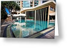 Hotel Swimming Pool Greeting Card