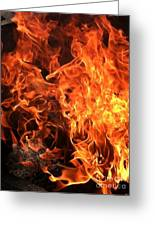 Hot,firery Flames. Greeting Card