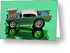 hotwheels blown 57 Chevy Greeting Card