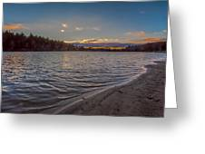 Houghton's Pond Sunset Greeting Card