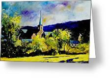 Hour Village Belgium Greeting Card by Pol Ledent