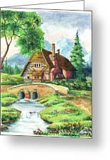 House Along The River Greeting Card