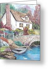 House And Bridge Greeting Card