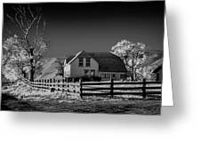 House And Cottonwoods Greeting Card