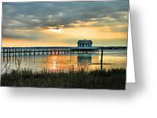 House At The End Of The Pier Greeting Card by Steven Ainsworth