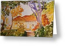 House Beside Mountain Greeting Card