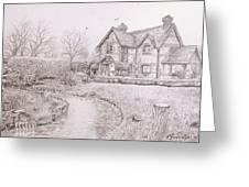 House By Lake Greeting Card