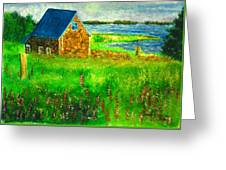 House By The Field Greeting Card