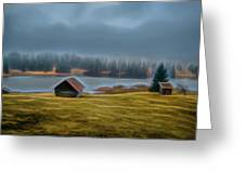 House By The Lake Greeting Card