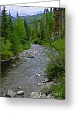 House By The Stream In Vail 2 Greeting Card